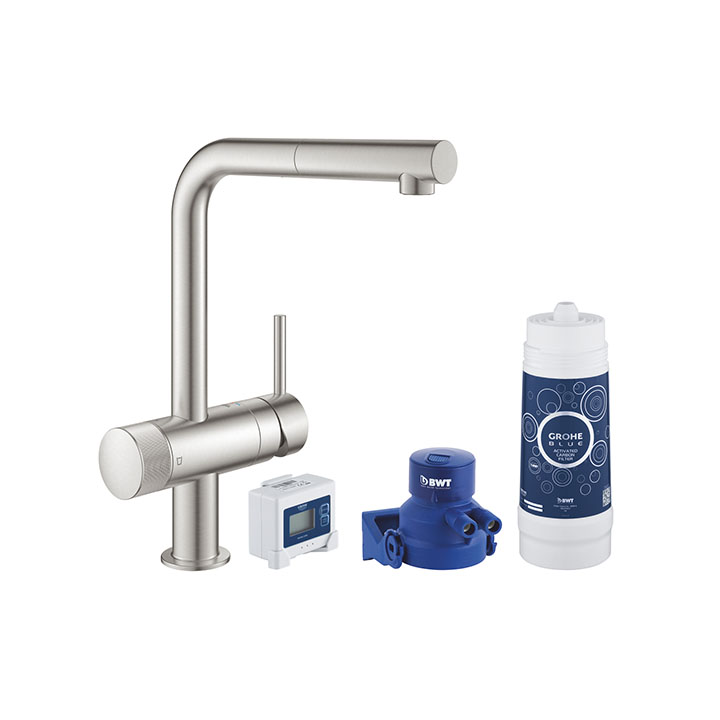 Grohe Blue Pure Minta Starter kit 30382 DC0 Super Steel