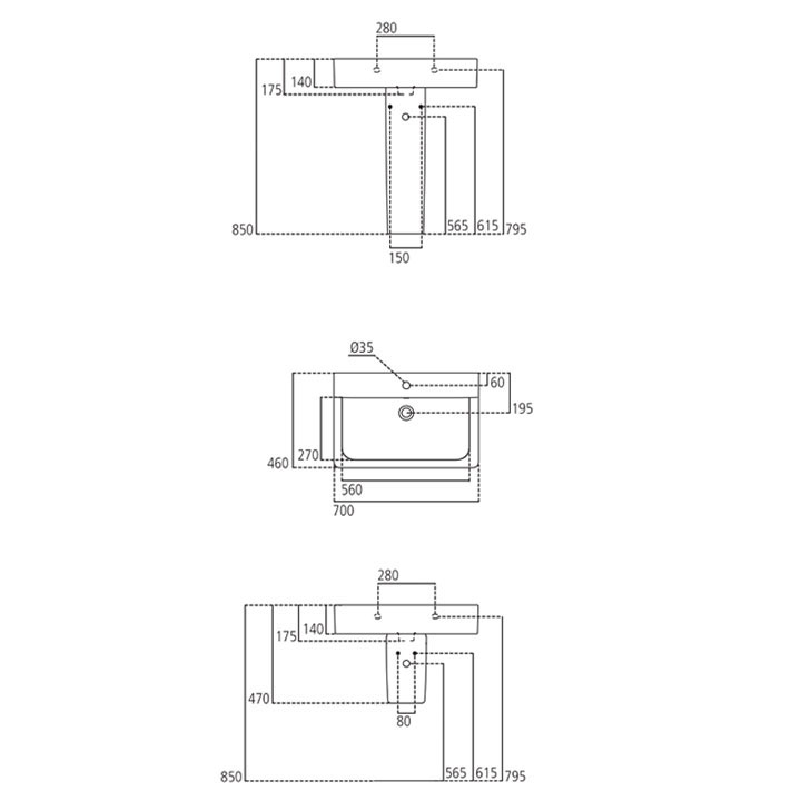 IDEAL STANDARD lavabo ceramica CUBE CONNECT E773601